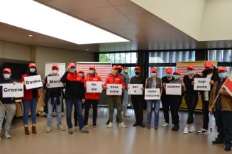 1. Mai: DPD-Fahrer*innen versammeln sich in Bern